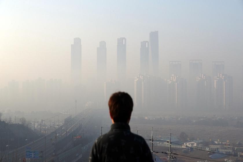 韩国首尔雾霾